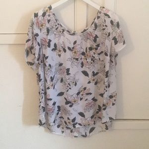 Floral Blouse with button down back - Torrid